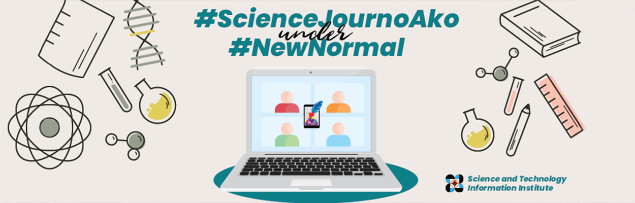 #ScienceJournoAko under #NewNormal